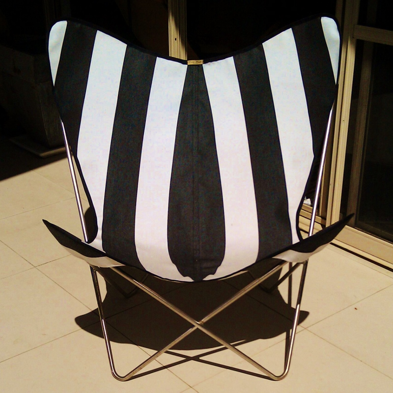 Genial Muumuu Butterfly Chair Cover Broad Blackwhite Stripe $140. Picture