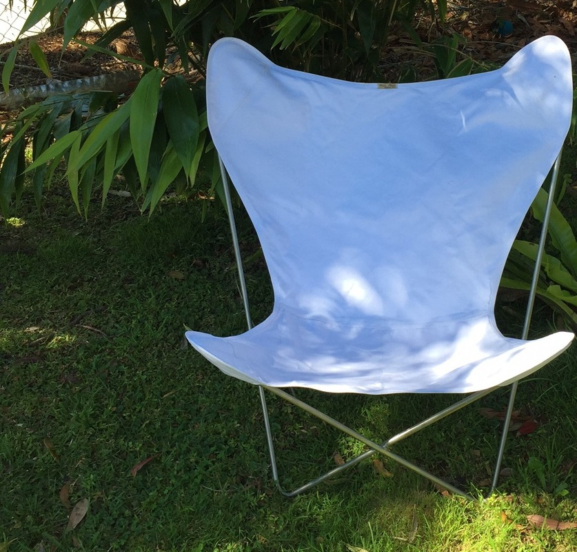 Sunbrella White Outdoor Acrylic Canvas Muumuu Butterfly Chair Cover @ $130